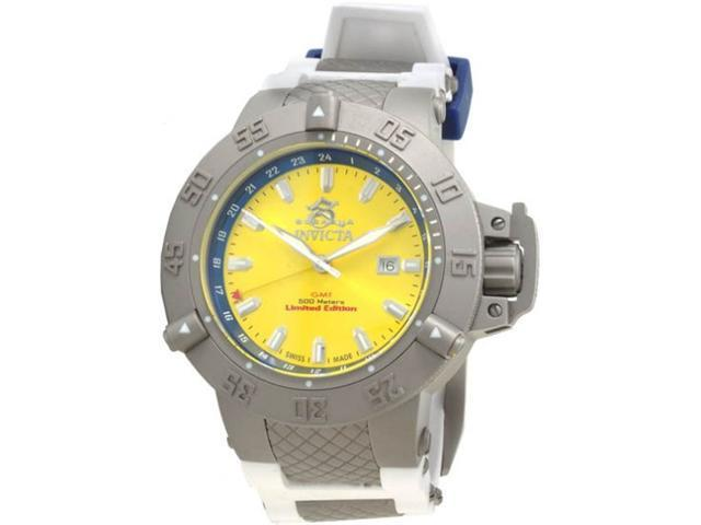 Invicta Limited Ed Subaqua Diver GMT White Mens Watch 1588
