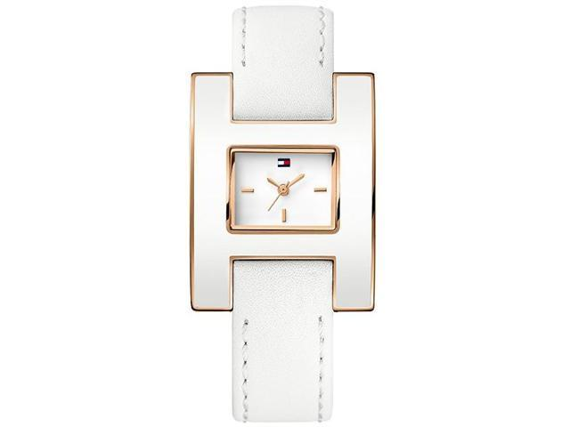 Tommy Hilfiger White Calf Leather Ladies Watch 1781153