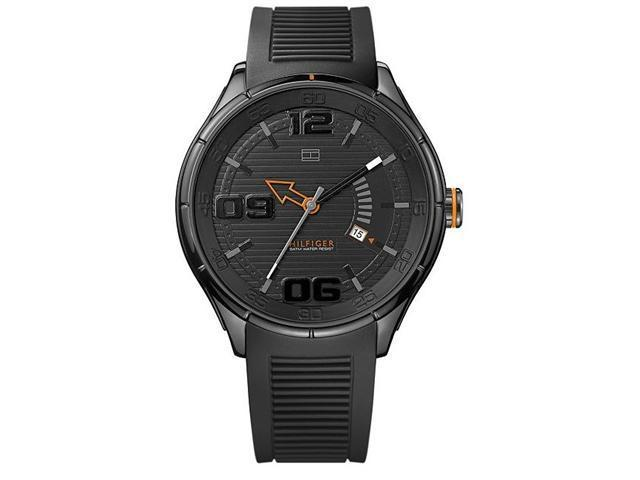 Tommy Hilfiger Black Silicone Mens Watch 1790803
