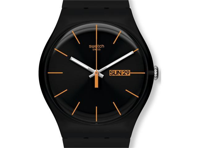 Swatch Dark Rebel Black Silicone Unisex Watch SUOB704