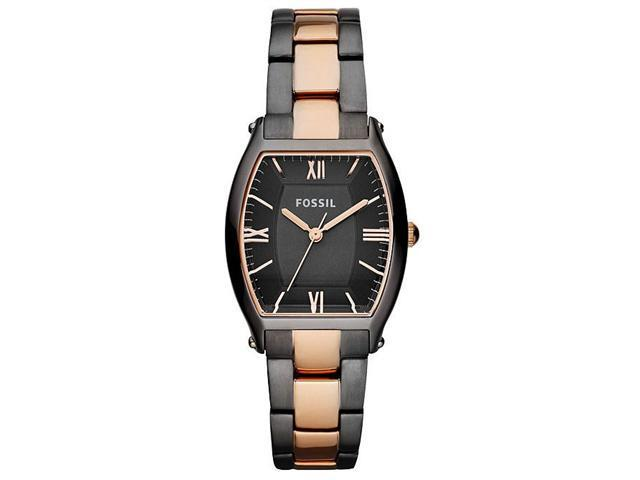 Fossil Smoke and Rose Gold-Tone Ladies Watch ES3059