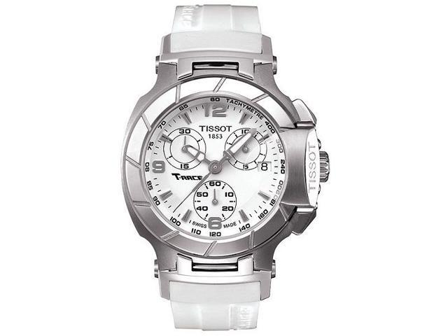 Tissot T-Race White Rubber Chronograph Ladies Watch T0482171701700