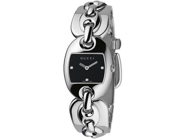 Gucci Marina Chain Ladies Diamond Set Watch YA121503