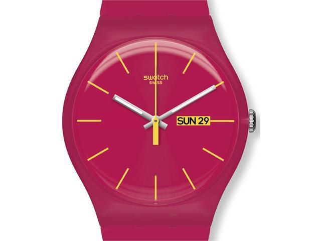 Swatch Rubine Rebel Pink Silicone Unisex Watch SUOR704