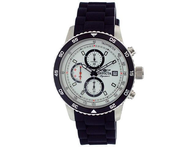 Invicta Signature II Chronograph White Dial Mens Watch 7396