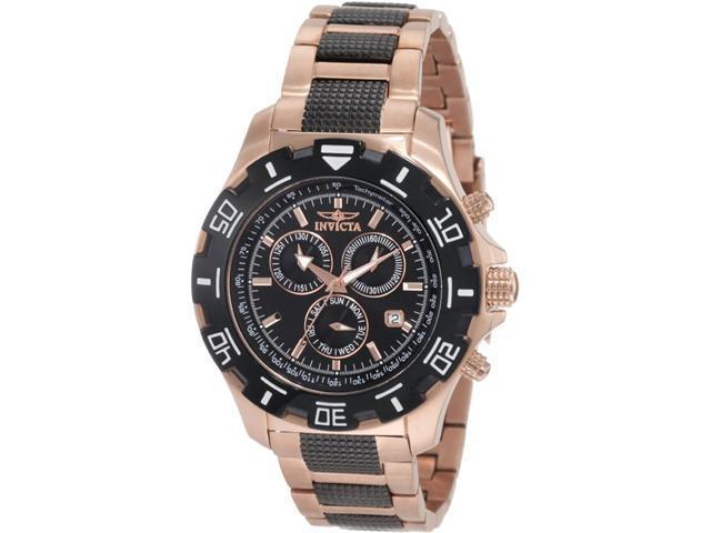 Invicta II 1221 Chronograph 18k Rose Gold-Ion Watch