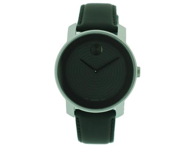 Movado Bold Aluminum Leather Unisex Watch 3600072