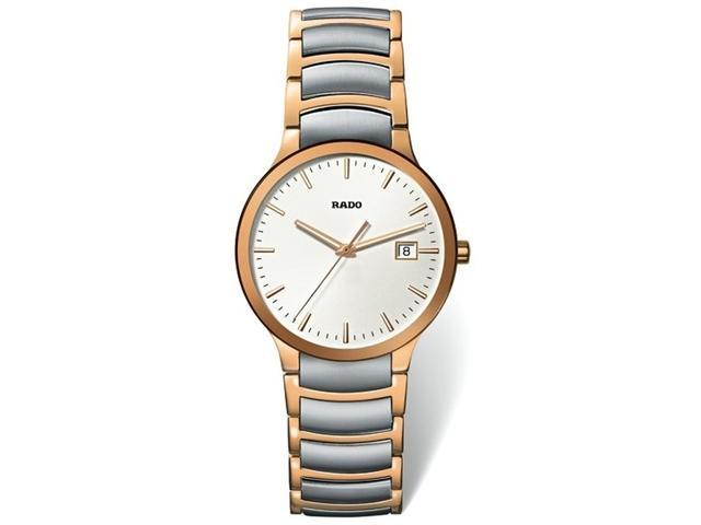 Rado Centrix Quartz Two-Tone Stainless Steel Mens Watch R30554103