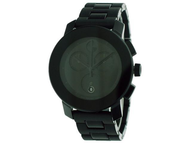 Movado Bold Chronograph Small Black Bracelet Ladies Watch 3600056