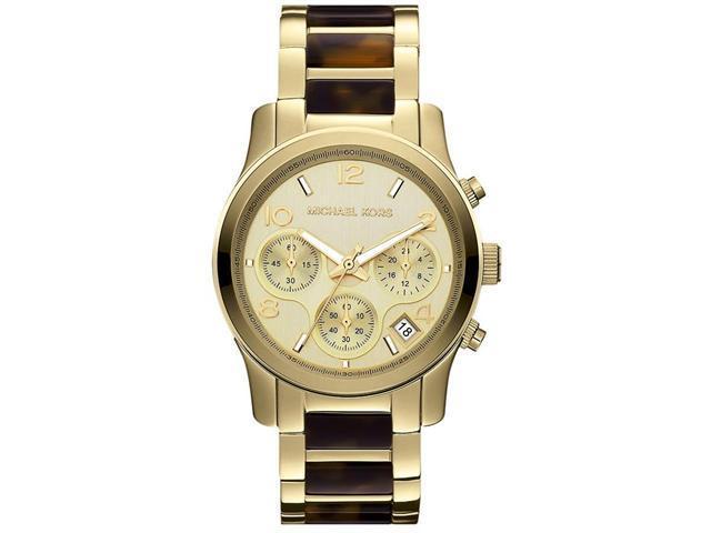 Michael Kors Runway Chronograph Gold-Tone Ladies Watch MK5659