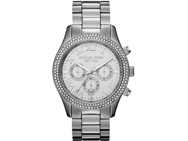 Michael Kors Layton Chronograph Silver Dial Ladies Watch MK5667