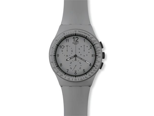 Swatch GRRRR Chronograph Grey Dial Grey Plastic Mens Watch SUSM400