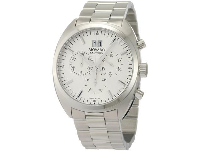 Movado Datron Chronograph Stainless Steel Silver Dial Mens Watch 0606477