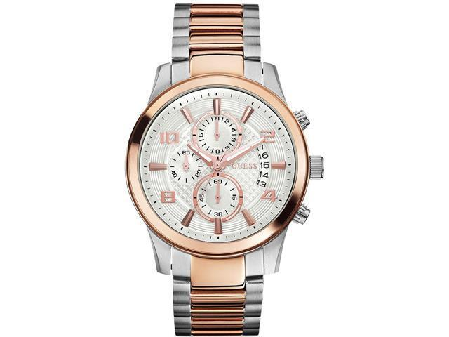 GUESS Chronograph Two-Tone Mens Watch U0075G2
