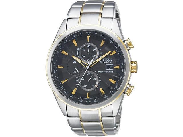 Citizen Eco-Drive World Chronograph A-T Mens Watch AT8014-57E