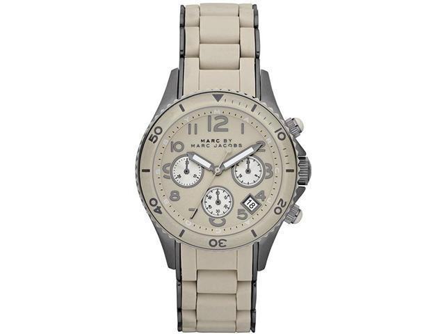 Marc by Marc Jacobs Chronograph Rock Shell Silicone Mens Watch MBM2591