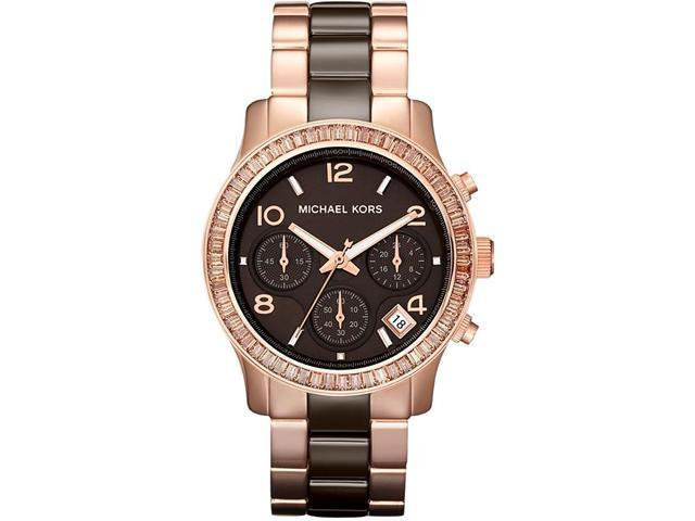 Michael Kors Runway Ceramic Rose Gold-Tone Ladies Watch MK5678