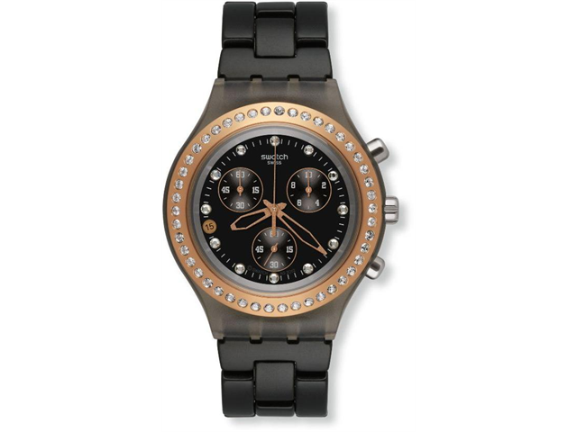 Swatch Irony Diaphane Full Blooded Stoneheard Black Dial Chornograph Watch