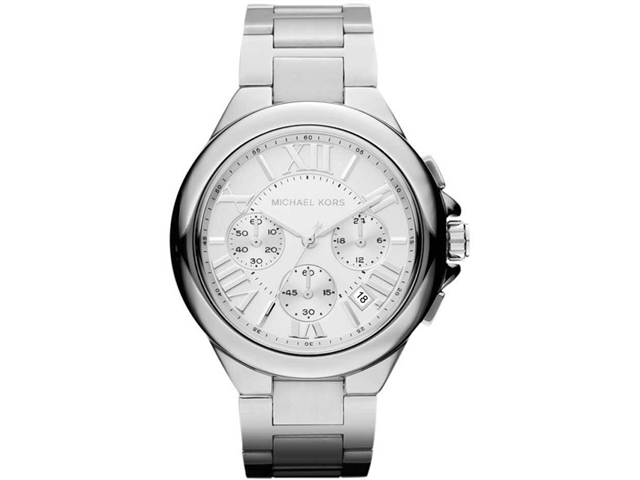 Michael Kors Camille Chronograph Silver Dial Stainless Steel Ladies Watch MK5719