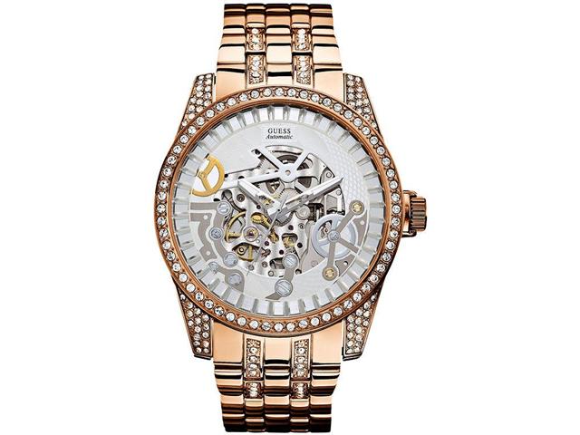 GUESS Rose Gold Tone Automatic Mens Watch U0012G2