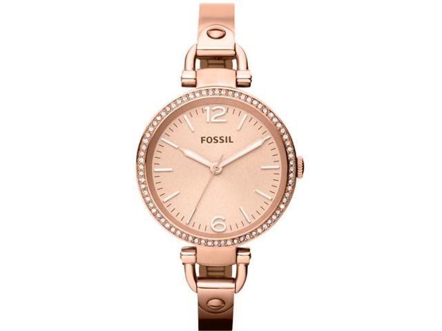 Fossil Georgia Glitz Rose Dial Rose Gold-tone Ladies Watch ES3226