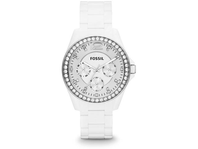 Fossil Riley White Nylon Ladies Watch ES3252