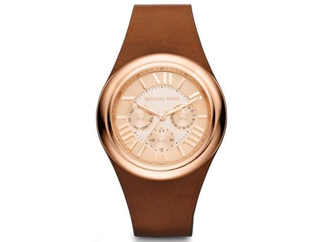 Michael Kors Camille Chocolate Leather Chronograph Ladies Watch MK2313