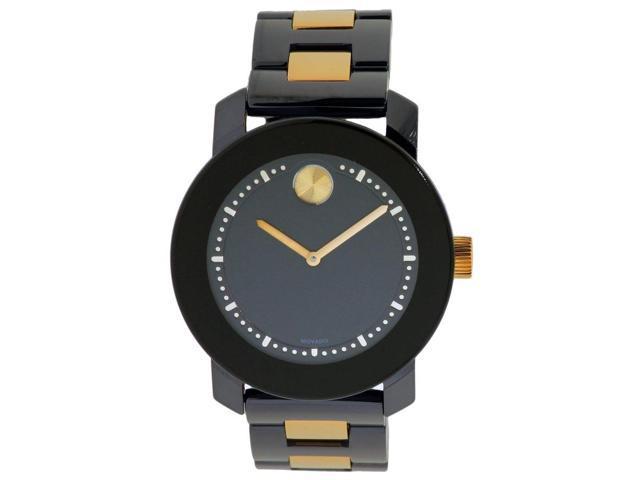 Movado Bold Black Dial Black Ceramic and Steel Bracelet Unisex Watch 3600183