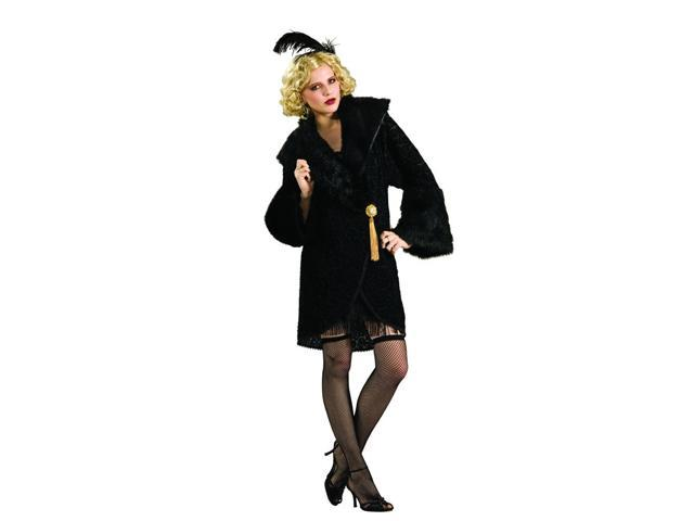 Black Adult Flapper Feather Costume Headpiece