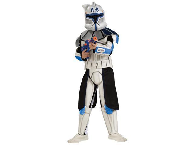 Star Wars Animated Deluxe Eva Clonetrooper Captain Rex Child Medium Costume