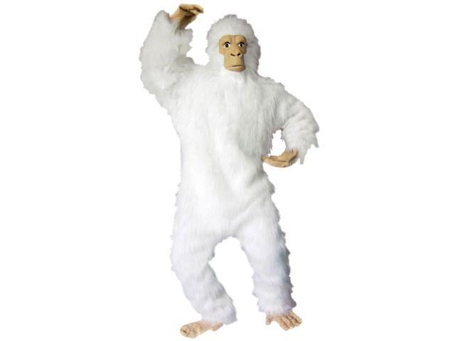 Gorilla Costume White Plush Adult Standard