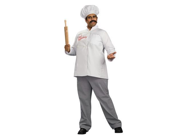 Chef Bopiti Boopi Italian Cook White Jacket Pants Costume Adult Standard