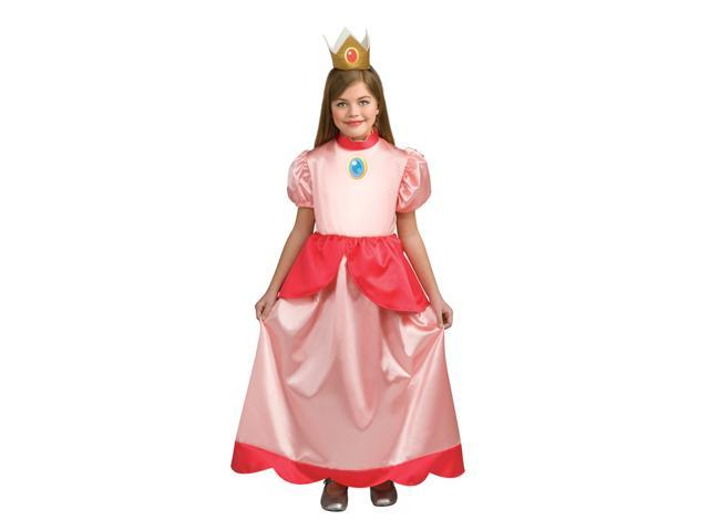 Super Mario Brothers Brothers Princess Peaches Costume Child Large