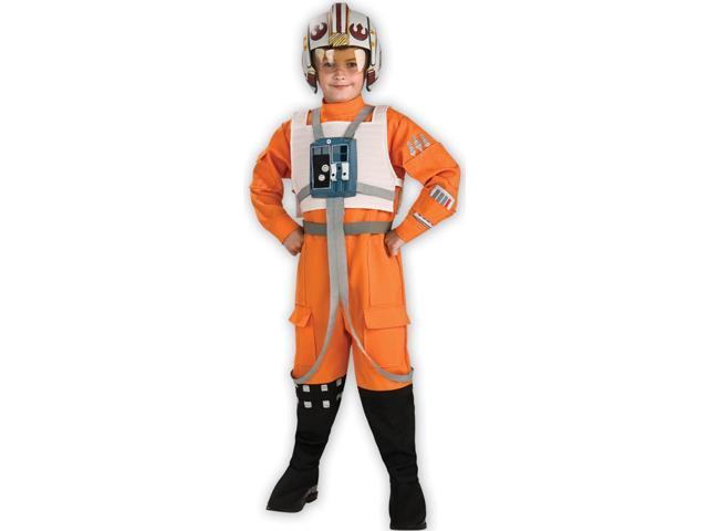 Rubies Star Wars Deluxe Orange Flight Suit for Children - Large