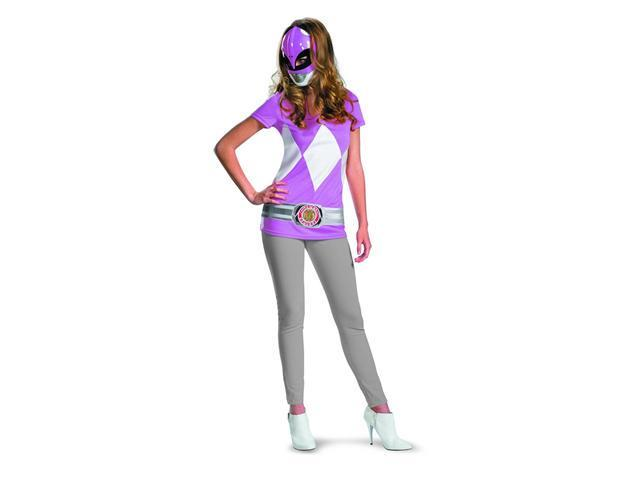 Power Rangers Pink Ranger T-Shirt & Mask Adult Costume Set