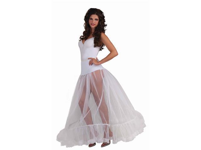 White Crinoline Floor Length Petticoat