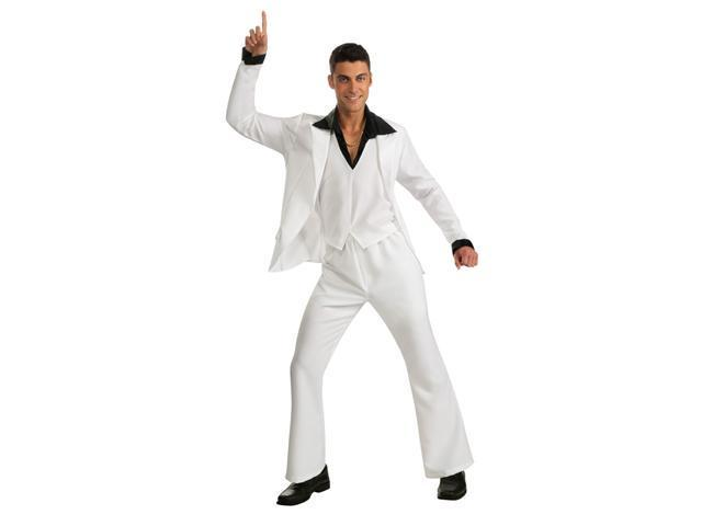 Saturday Night Fever White Disco Suit Costume Adult Extra Large
