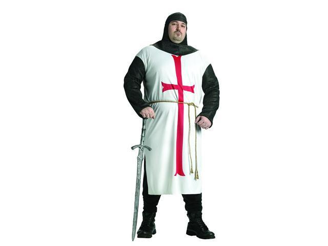 Templar Knight Tunic Costume Adult Plus Plus Size