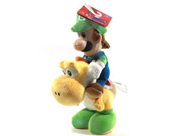 "Super Mario Bros Luigi Riding Yoshi 8"" Plush"