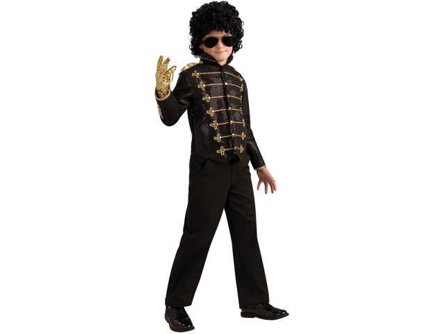 Michael Jackson Black Military Jacket Child Large