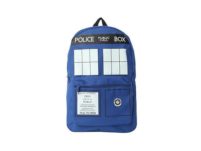 Doctor Who Blue TARDIS Police Box Basic Backpack Knapsack
