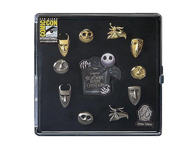 Nightmare Before Christmas Pewter Pin 10 Piece SDCC Set