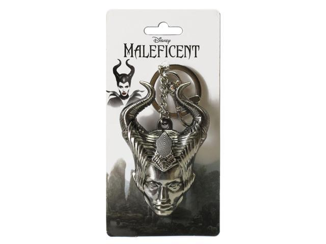 Maleficent Head Pewter Key Ring Chain