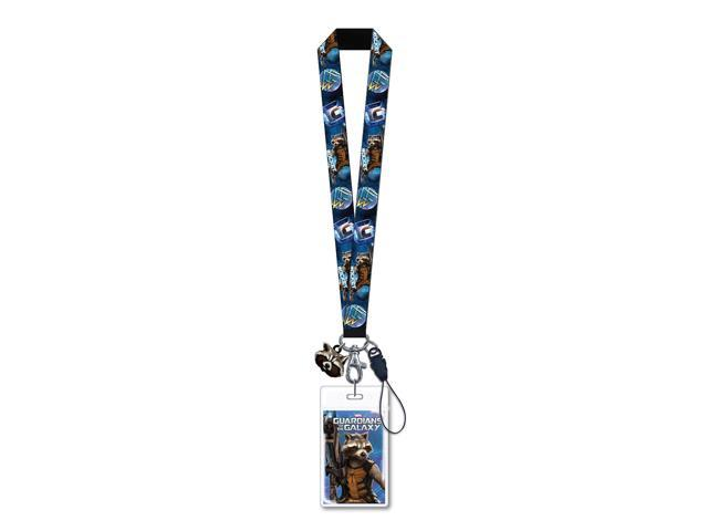 Rocket Raccoon Lanyard With Soft Touch Dangle