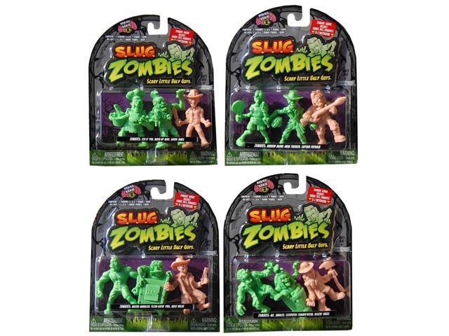 S.L.U.G. Zombies Wave 2 Assortment 3 Pack Set Of 4