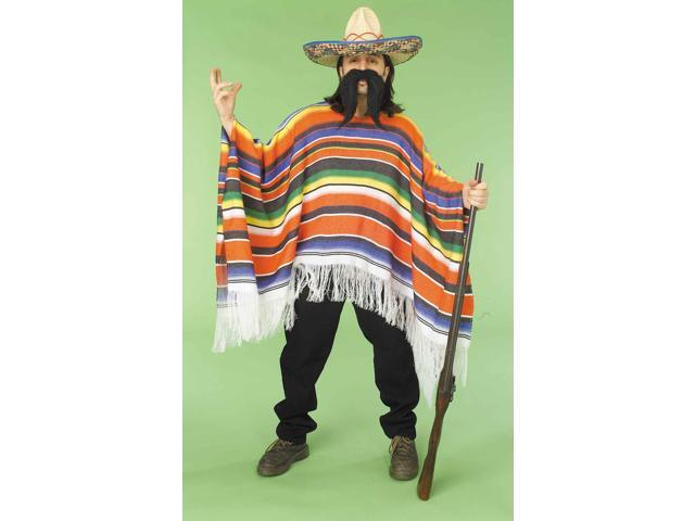 Mexican Serape Poncho Adult Costume