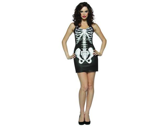 Bones Skeleton Halloween Tank Dress Costume Adult Standard