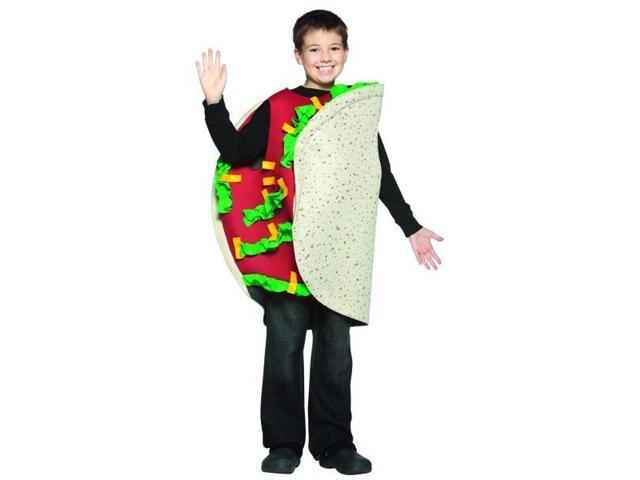 Funny Food Mexican Taco Child Costume 7-10