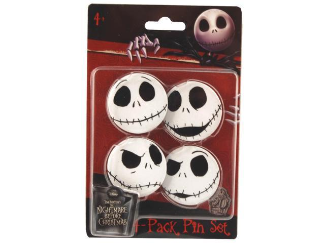 The Nightmare Before Christmas Jack 4-Pack Pin Set