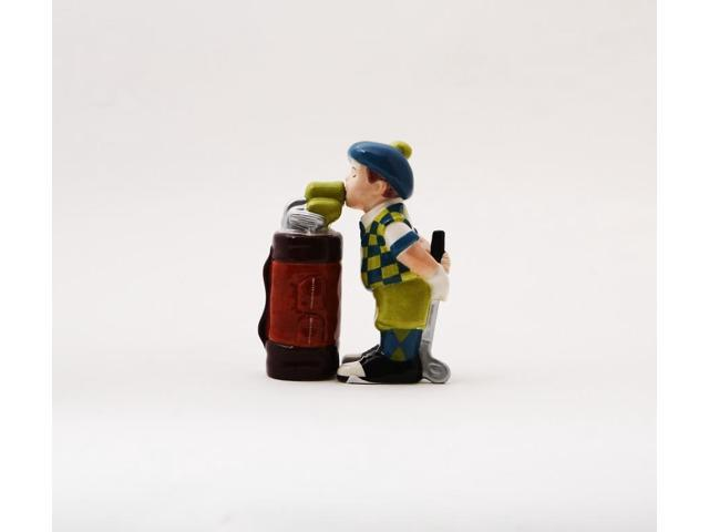 Golfer Bag Magnetic Salt & Pepper Shakers